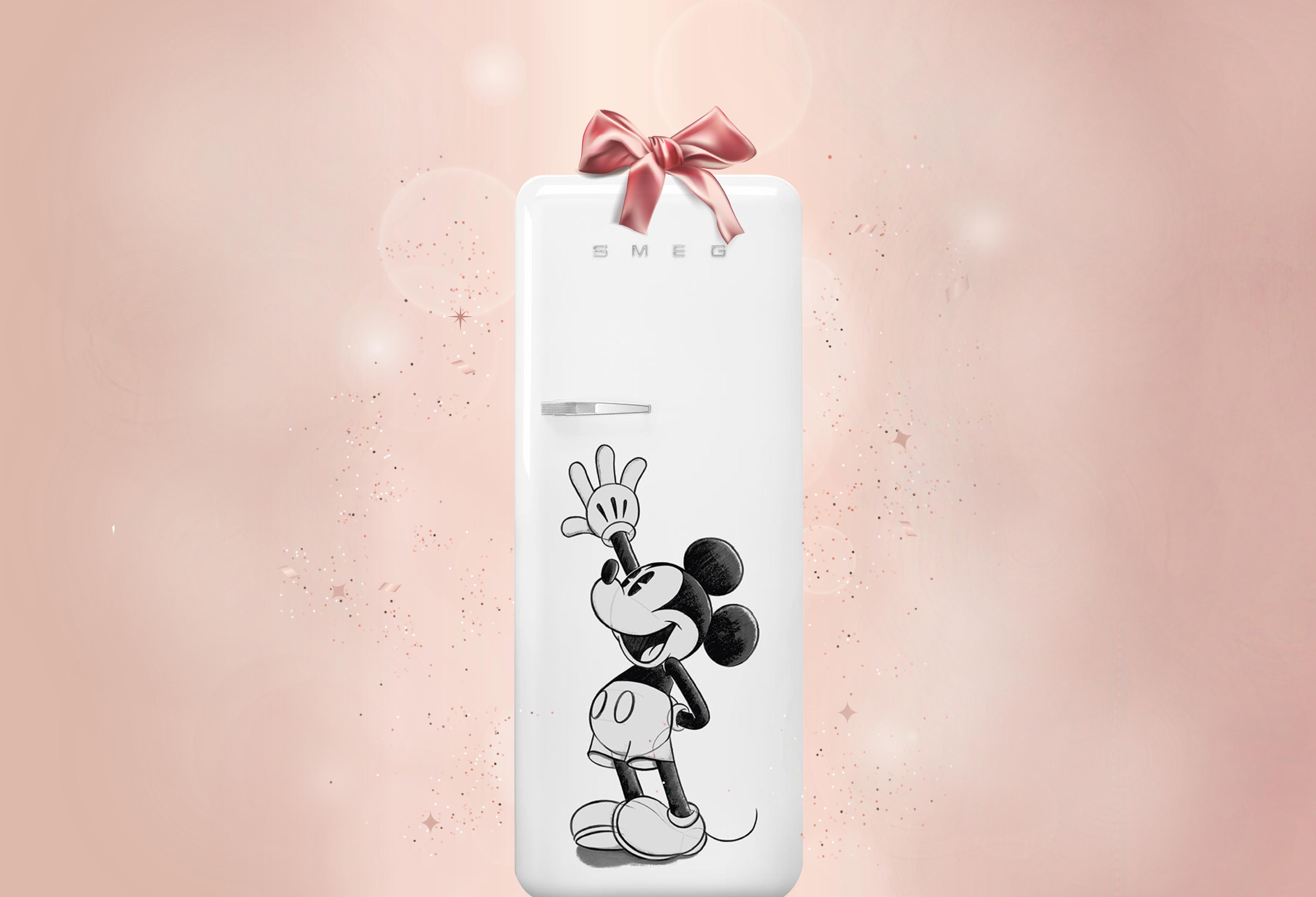 Smeg x Disney Mickey mouse fridge